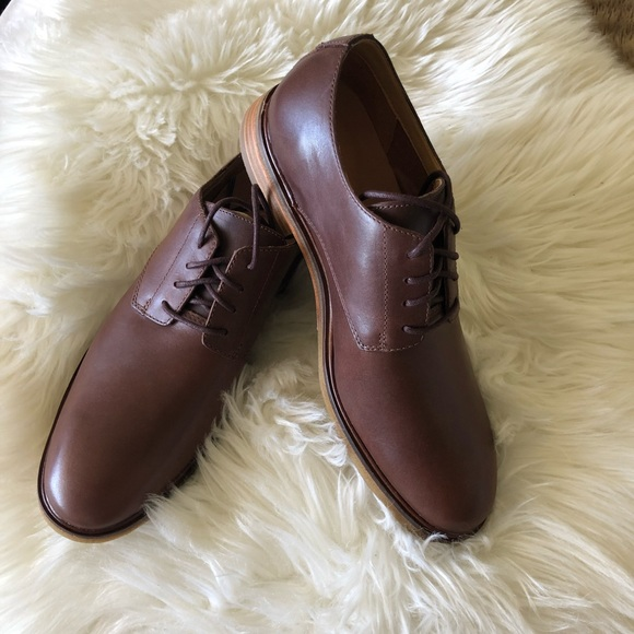 Details about NEW Mens Clarks Clarkdale Moon Oxford Dark Tan Brown Leather Dress Shoes